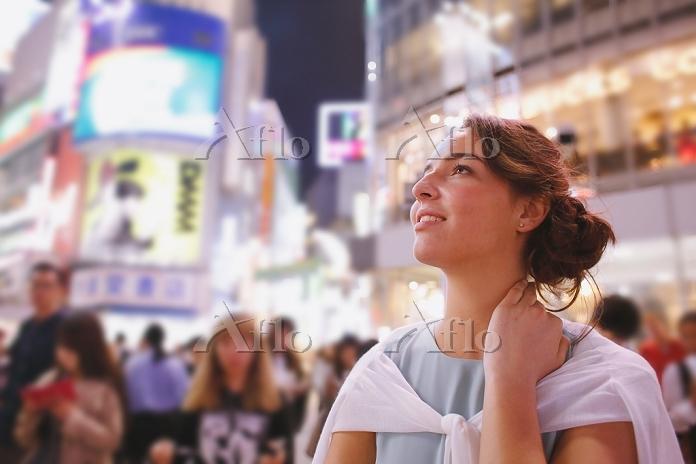 渋谷を観光する外国人