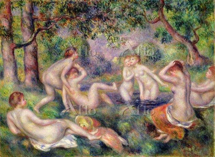 ルノワール  「森の中の浴女たち」