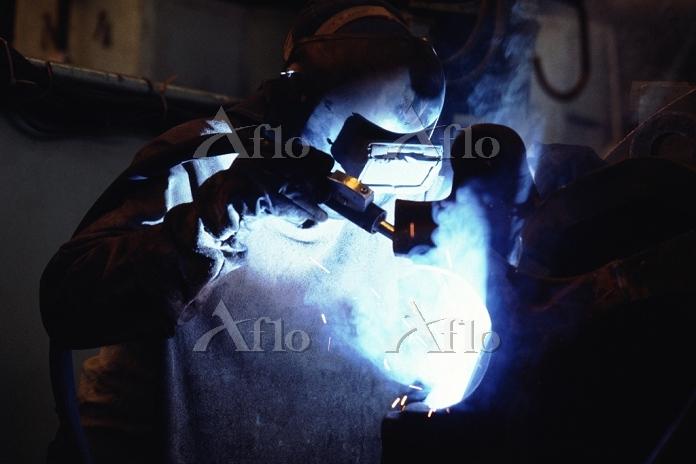 製鋼所工員