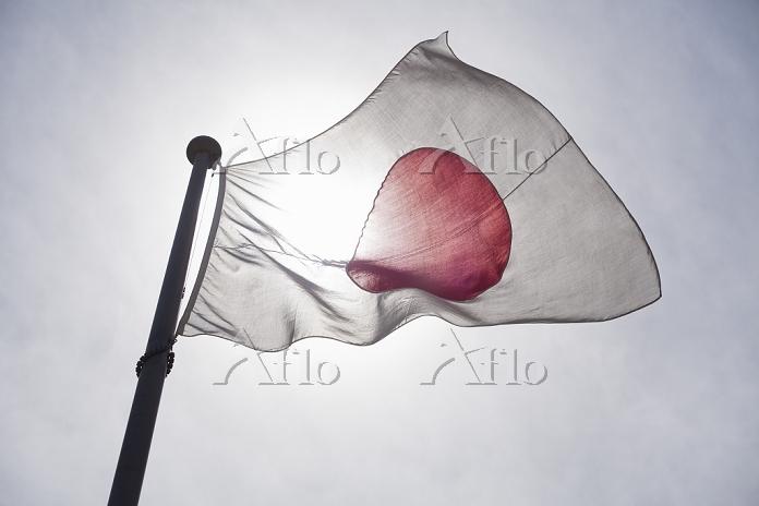 日本国旗と太陽