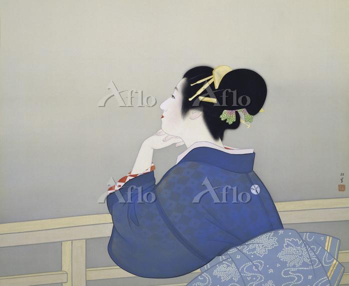 上村松園  「待月」