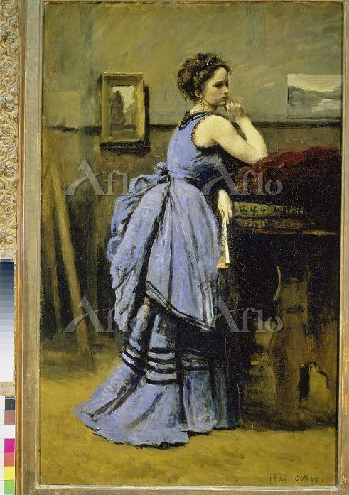 カミーユ・コロー 「青衣の女性」