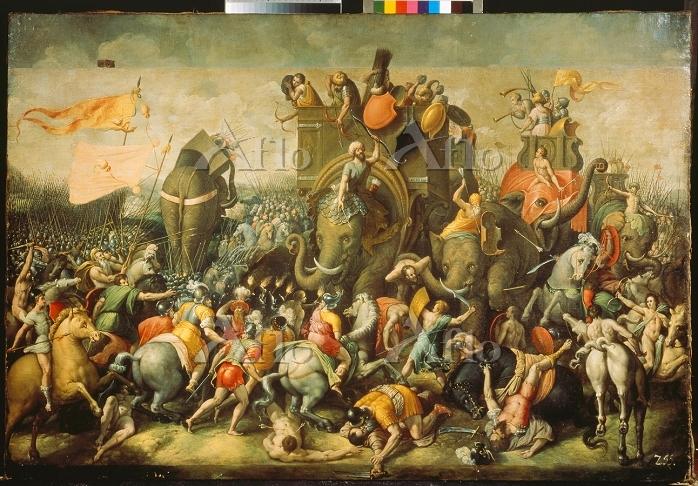 「Battle scene painting with wa・・・