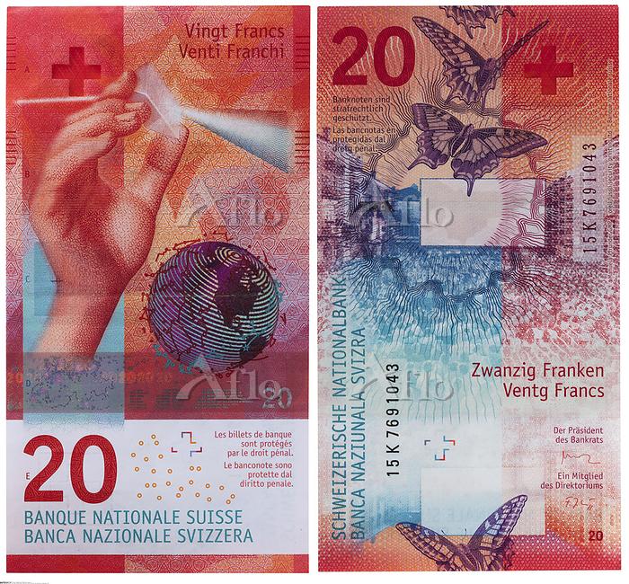 スイス 紙幣 20フラン
