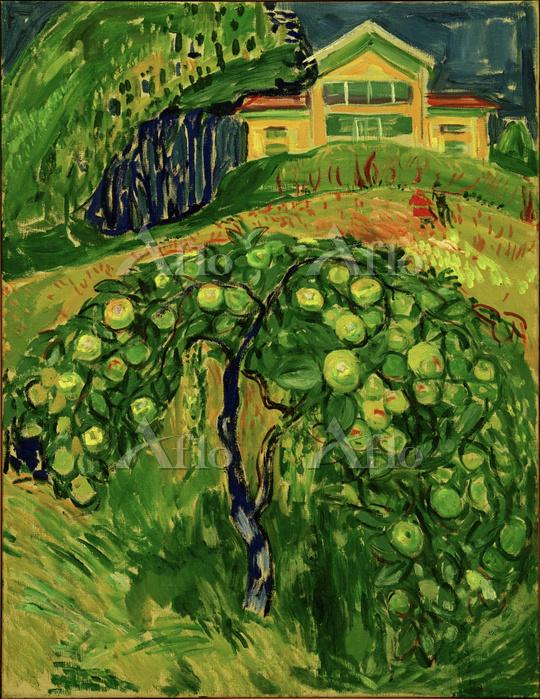 ムンク「庭のリンゴの樹」