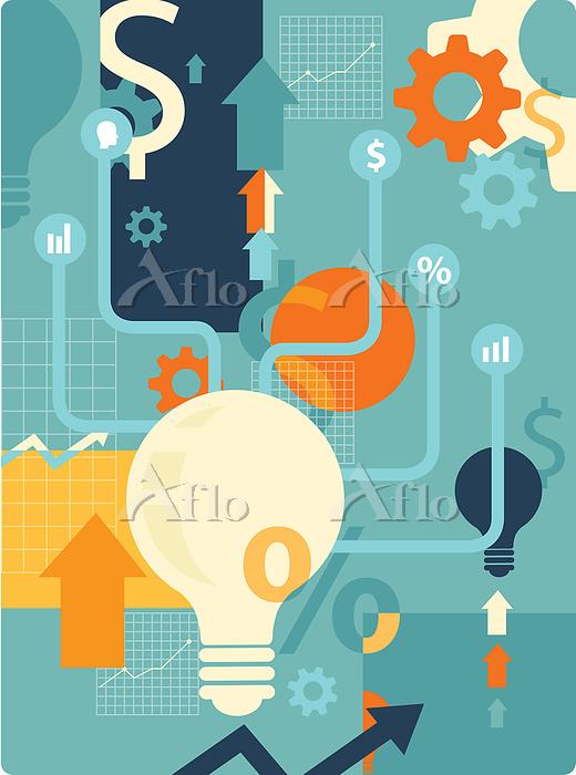 Illustration of business idea.