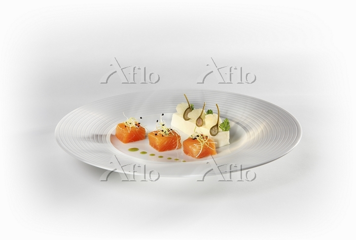 Pickled salmon trout with caul・・・