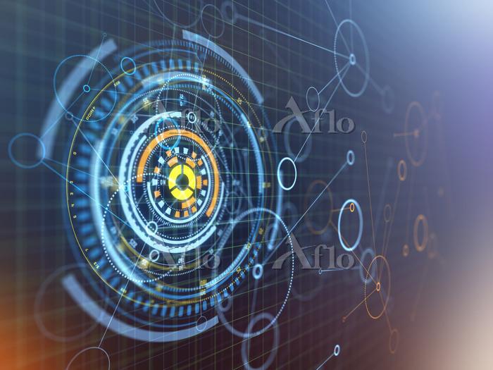 抽象的なハイテク回路イメージ