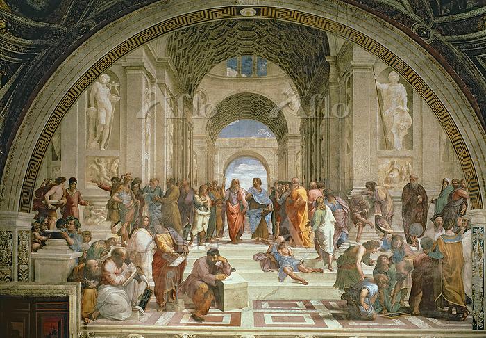 ラファエロ  「アテネの学堂」