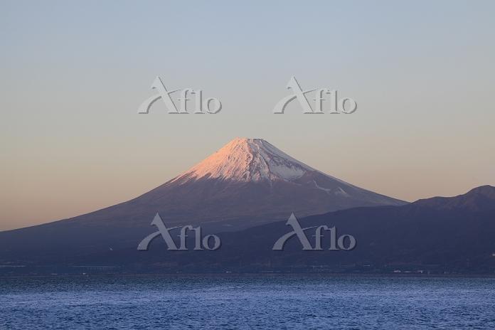 静岡県 大瀬崎 紅富士と駿河湾
