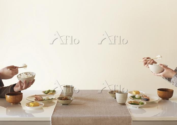 和食を食べる