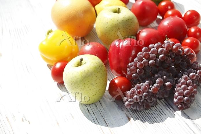 トマト、果物の集合
