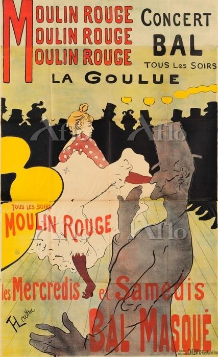 ロートレックポスター「ムーラン・ルージュのラ・グーリュ」