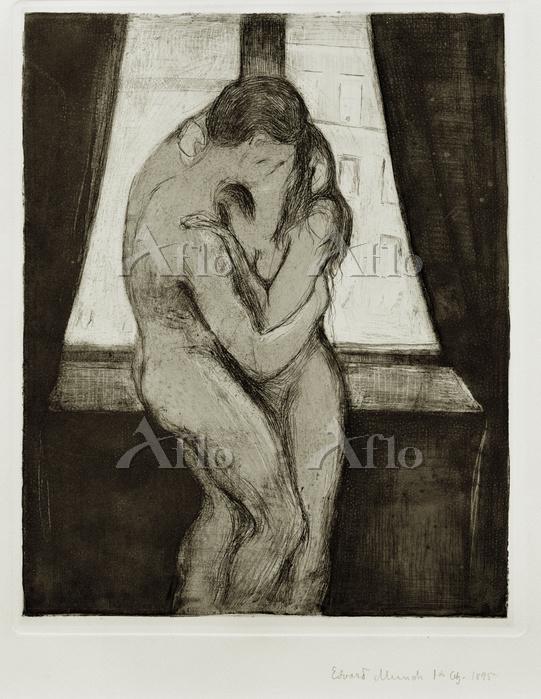 エドヴァルド・ムンク「接吻」