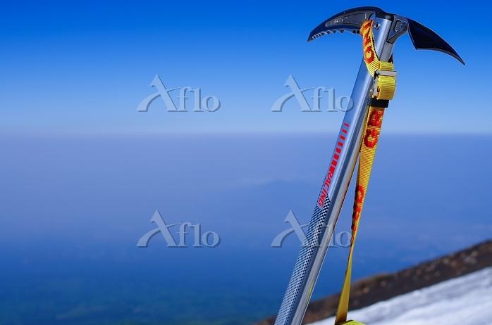 富士山 残雪 7合目斜面