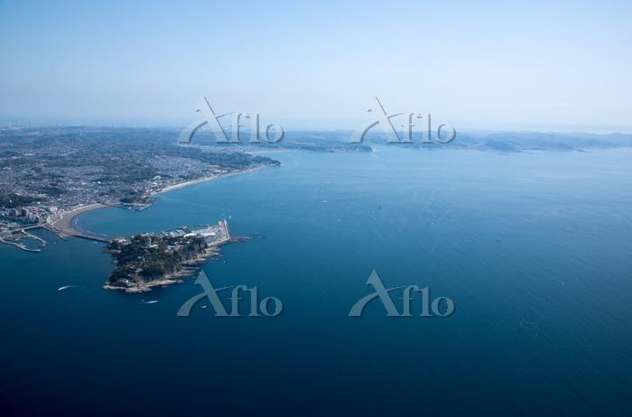 江ノ島より鎌倉の相模湾(2020のヨット予定会場)