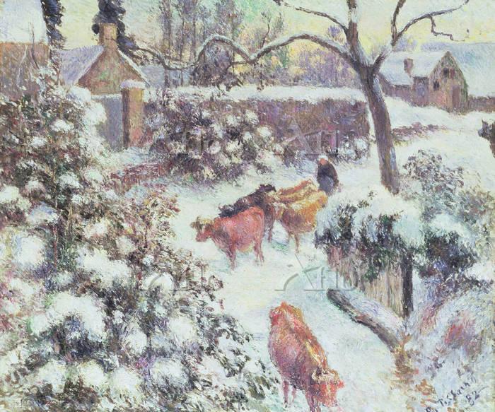 ピサロ 「雪の効果」