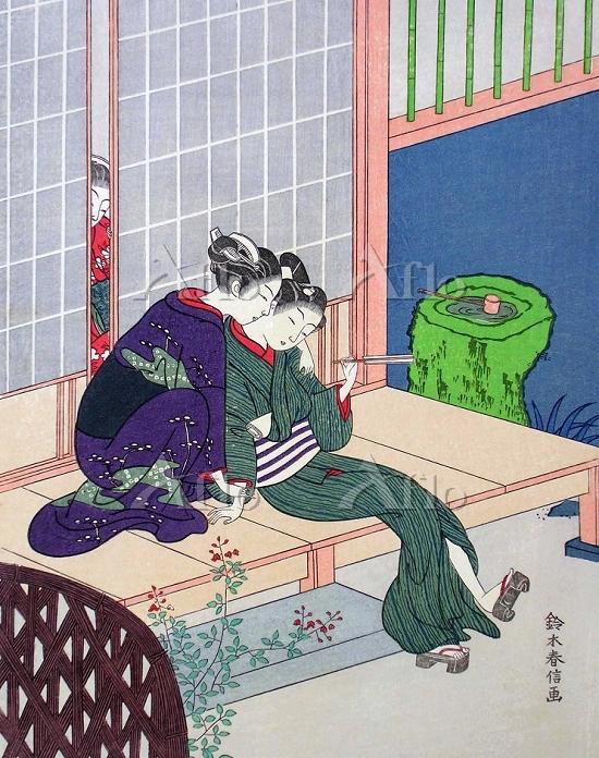 鈴木春信 「縁先物語」