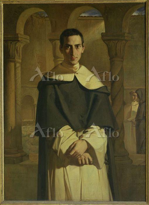 シャセリオー 「ドミニコ会ドミニク・ラコルデール神父の肖像」