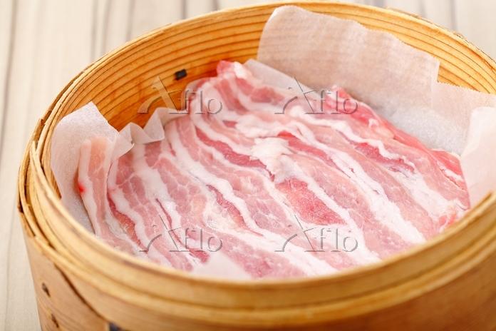 豚肉と野菜せいろ蒸し
