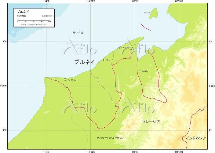 ブルネイ 自然図