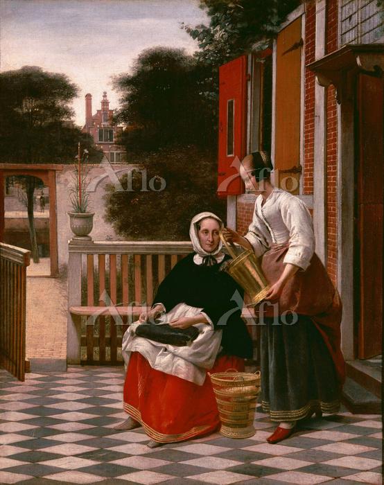 ピーテル・デ・ホーホ  「女主人とバケツを持つ女中」