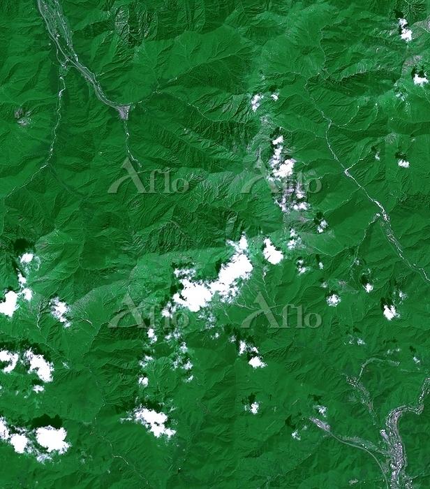衛星画像 谷川連峰