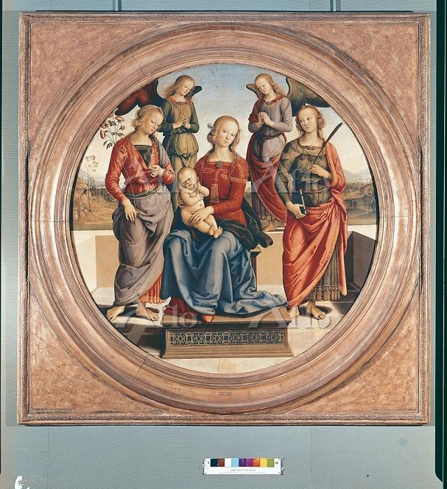 ペルジーノ 「玉座の聖母子と2聖人、2天使」