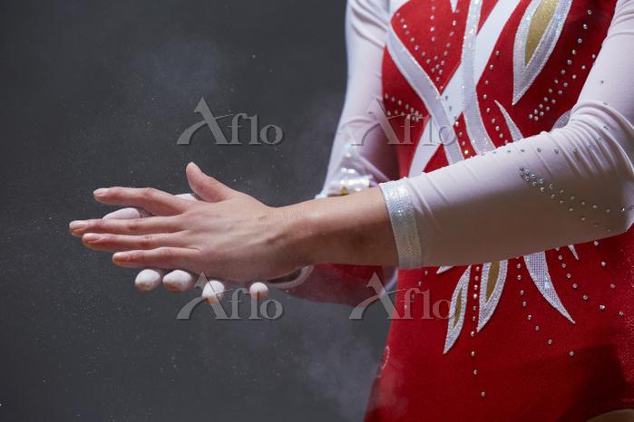 女子体操選手 準備