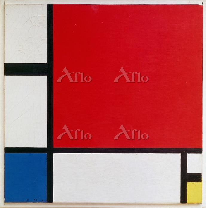 モンドリアン 「赤、青、黄のあるコンポジション」