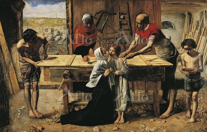 ミレイ 「両親の家のキリスト(大工の仕事場)」
