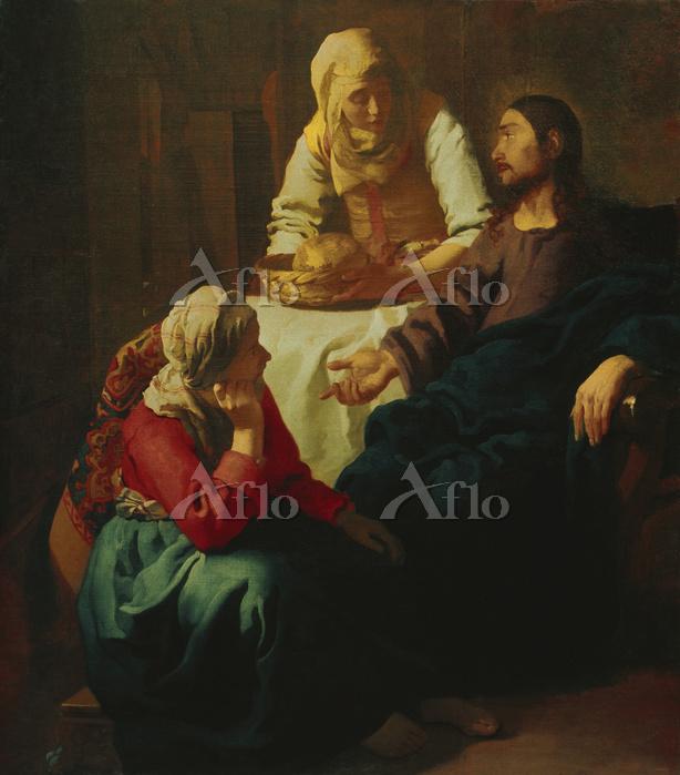 フェルメール  「マルタとマリアの家のキリスト」