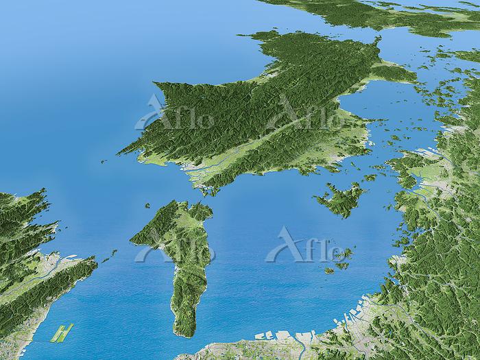 紀伊水道から見た四国 中央構造線