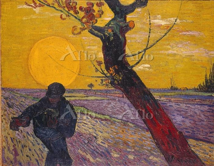 ゴッホ 「日没を背に種まく人」