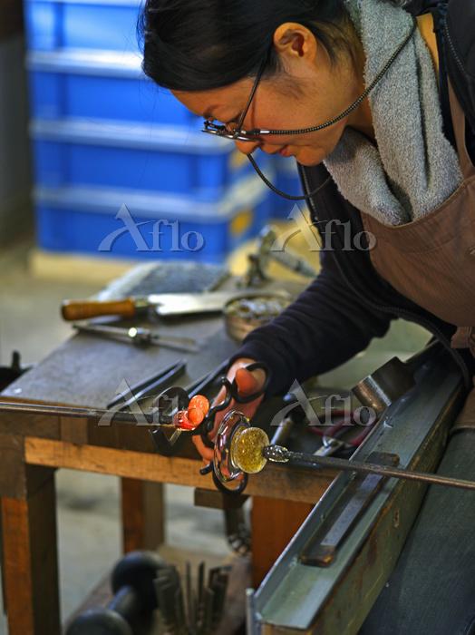 ガラス工芸職人