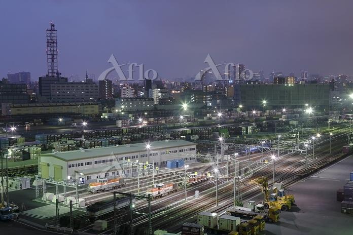 東京都 夜のJR貨物隅田川駅
