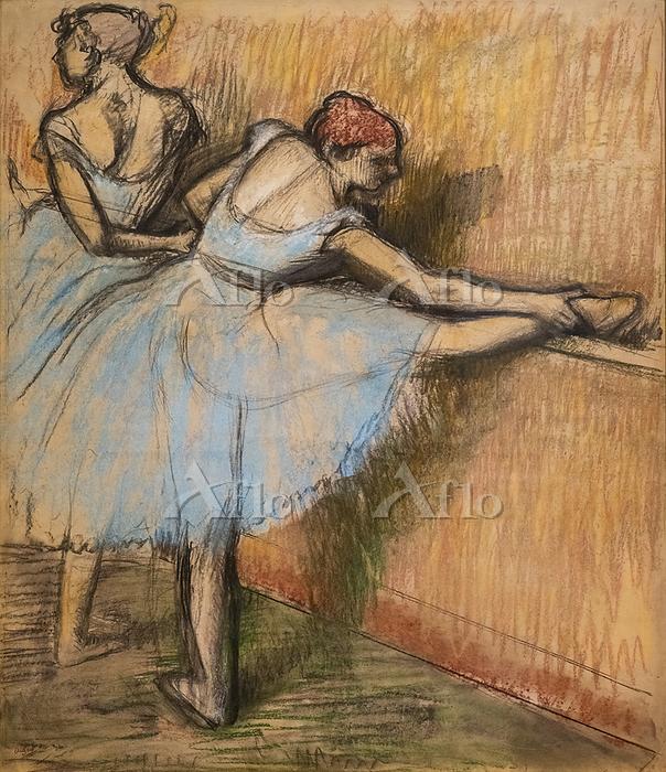 ドガ「稽古する踊り子」