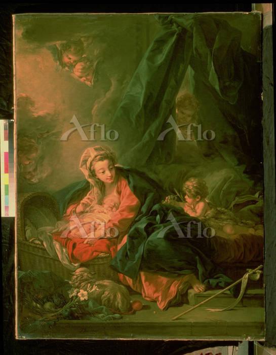 フランソワ・ブーシェ 「眠る幼児キリスト(キリストの降誕)」