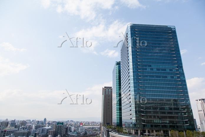 グランフロント大阪Aブロック南側より北を望む