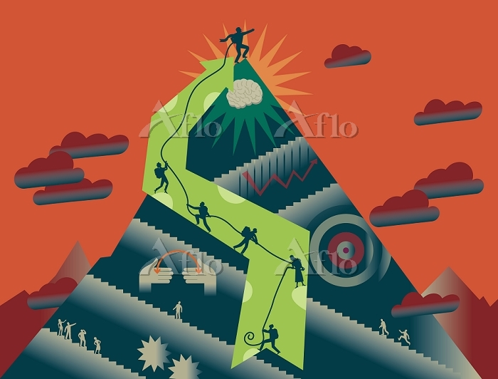 イラスト 登山