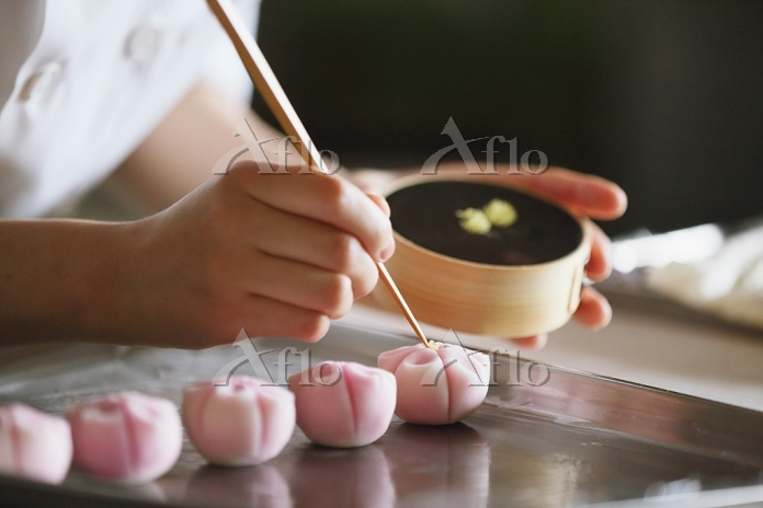 日本の和菓子職人