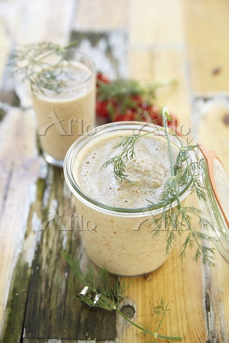 Tomato and cucumber smoothies ・・・