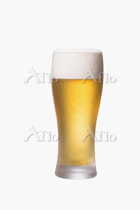 結露したグラスビール