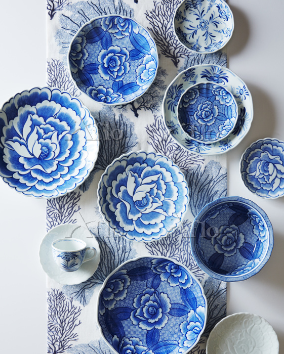 decorative blue plates, Photo ・・・
