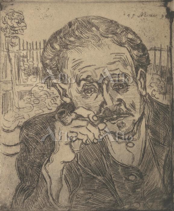 ゴッホ「パイプをくわえた医師ガシェの肖像」