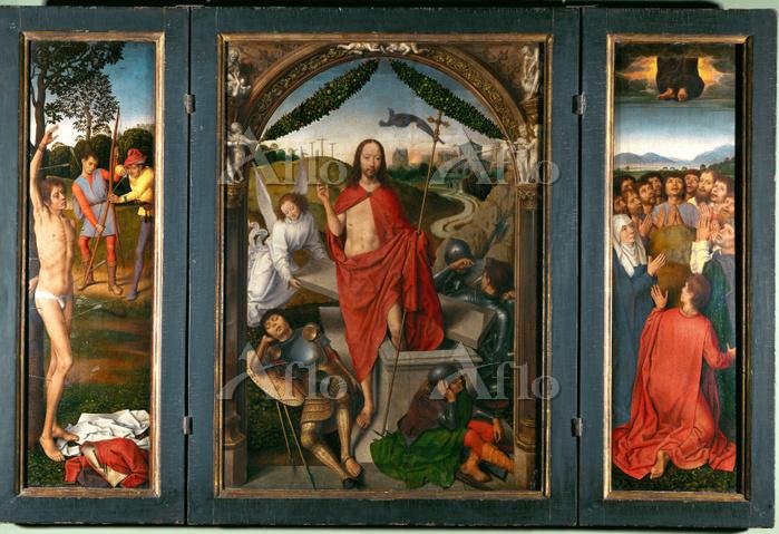 ハンス・メムリンク 「キリストの復活の三連祭壇画」