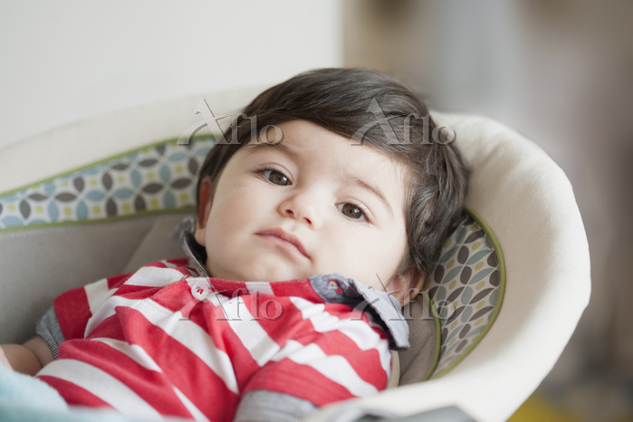 Hispanic baby boy laying in ba・・・