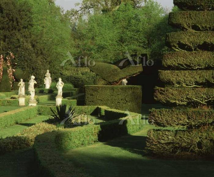 View of topiary shaped like a ・・・
