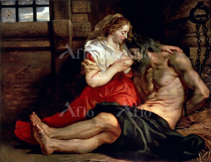 ルーベンス 「ローマの慈愛(キモンとペロー)」