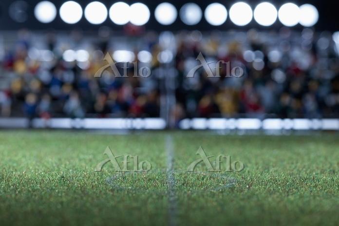 サッカーのセンターサークルとライン
